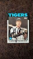 1986 Topps Lance Parrish #740 - Detroit Tigers - Autographed!