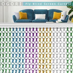 OGORI Aluminum Door Curtain Metal Chain Fly Insect Blinds Screen Pest Control UK