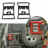 2PCS Rear Taillight Cover Guard Off-road Scene Style For Wrangler JL 2018+,