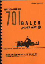 "Massey-Harris ""No.701"" Baler Illustrated Parts Book"