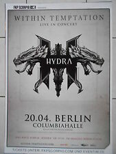 Within succomber 2014 Berlin-orig. Concert Poster-concert affiche a1 NEUF