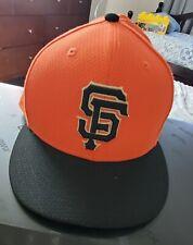 NEW SF San Francisco Giants New Era Baseball Hat Cap  Orange Low Profile 8 1/4