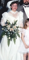 TRUE VINTAGE, Shimmering Victorian, Ivory  Wedding Gown...American Federation...
