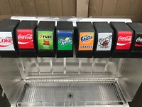 8 Flavor Head Soda Fountain Dispenser Drop In Ice Bin Cornelius