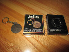 JIM BEAM 200th Anniversary 1795-1995 (Distilling Co Clermont KY) KEYCHAIN in Box