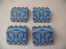 Lego 4 panneaux/charniere gris clair set 7161 / 4 light gray hinge panel