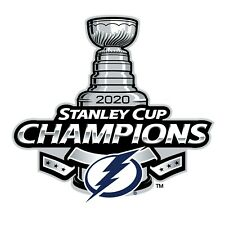 """Tampa Bay Lightning 2020 Stanley Cup Champions Vinyl Wall Graphic (36"""" x 36"""")"""