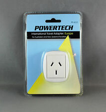 POWERTECHTRAVEL ADAPTOR FOR EUROPE (AUS/NZ MAINS to EUROPEAN) 3 PIN ADAPTER