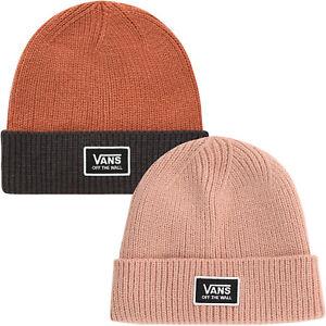 Vans Womens Falcon Cuffed Chunky Knit Winter Warm Beanie Hat - Rose Cloud