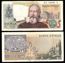 BILLET DE BANQUE 2.000 Livres Galileo Galilei Vente multiple conservation