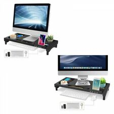 EAYHM Computer Monitor Stand with 4 Pieces USB Port Black Fast Ship Japan EMS