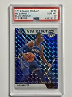 2019-20 RJ Barrett Mosaic Rookie /99 Blue Prizm RC PSA 10 GEM MINT Knicks