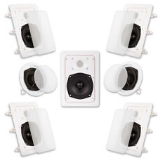Acoustic Audio HT57 In Wall and In Ceiling Home Theater Surround 7 Speaker Set