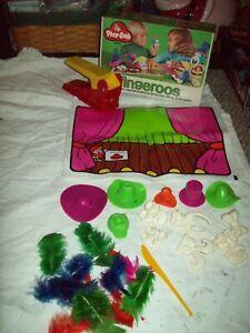 RARE  Play-Doh set 1975 Fingeroos in original Box complete w/ original feather