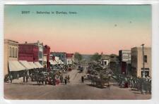 SATURDAY IN DUNLAP: Iowa USA postcard (C31622)