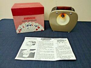 Johnson MFG.Co. Trademark Vintage Card Shuffler, Chicago AS IS
