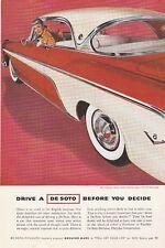 Original 1955 DeSoto Sportsman Magazine Ad with Fashion Designer Anne Fogarty