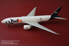 JC Wing FedEx Boeing 777-200LRF in New Panda Face Color Diecast Model 1:200