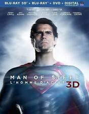 Man of Steel 3D (Blu-ray/DVD, 2013, 3-Disc Set, Canadian) Superman