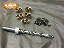 Quadrajet primary bushing kit. Custom self guiding Drill bit, bushings, screws.