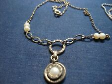SHABLOOL Didae Israel PEARLS STERLING SILVER CHUNKY NECKLACE