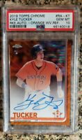 2019 Topps Chrome Kyle Tucker RC Orange Wave Refractor Auto /25 PSA 10 Gem Mint