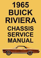 BUICK RIVIERA WORKSHOP MANUAL: 1965