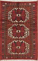 3'x5' Geometric Hamadan Oriental Area Rug Wool Hand-Knotted Living Room Carpet