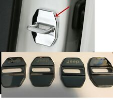 NEW DARK GREY 4Pcs Stainless Steel Door Lock Protective Cover Fit For Jeep
