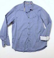Ted Baker London 6 Button Down Dress Shirt Blue Cotton Women's