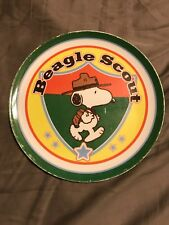 PEANUTS PLATE SNOOPYBEAGLE SCOUTBY GIBSON