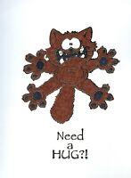 CAT 'Need a HUG?!' FUN Notecards (set of 3 Cards)   #331
