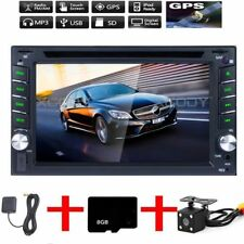 2 DIN 6.2'' Car Head Unit DVD Player RDS AM GPS Sat Nav Stereo + Rearview Camera