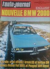 L'AUTO JOURNAL 1971 4 PEUGEOT 504 D OPEL MANTA 24H DAYTONA FERRARI 365 GTC/4