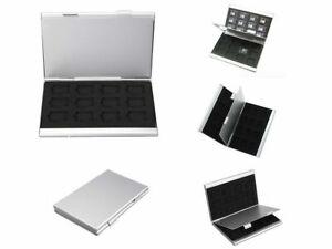 Aluminium Memory Card Storage Case Box Protective Holder For 24 Micro Memory SD