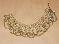 """VTG Brass Kuchi Ankle Bracelet Tribal Bell India Waziry Belly Dance Boho 8.5"""""""