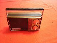 Vintage and rare SYLVANIA 8 Transistor Radio Model TR-106  leather case
