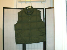 LANDS' END ARMY GREEN QUILTED DOWN FILLED VEST SZ XL