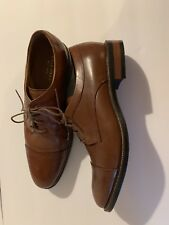 New COLE HAAN Mens British Tan Leather Cap Toe Derby Leather Oxfords Size 11.5