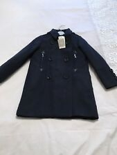 Next Smart Navy Wool Coat New With Tags 7-8