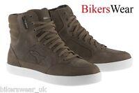 Alpinestars J 6 WP Brown Waterproof Suede Motorcycle Ankle Shoes US SIZES J-6