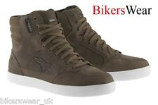 Alpinestars J6 WP Brown Waterproof Suede Motorcycle Ankle Shoes US SIZE J-6