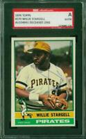 SGC Authentic Original Autograph of Willie Stargell HOF, Pirates on a 1976 Topps