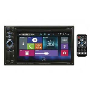 "Power Acoustik 6.2"" D.Din PD624B BT, In-Dash LCD Touchscreen DVD Receiver"