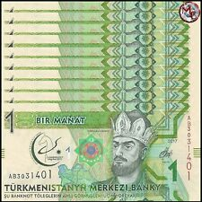 Turkmenistan - 1 Manat 2017 - Pick- New - COMMEMORATIVE - Set 10 PCS - UNC