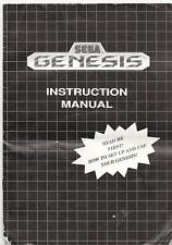 [MANUAL] Sega Genesis Console Instruction Booklet