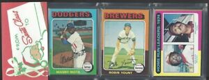 1975 Topps 12 Card Holiday Design Baseball Rack Pack...Robin Yount