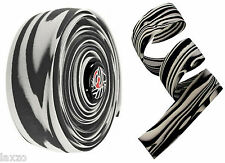 Cinelli Zebra Cork Ribbon Bar Tape Bicycle Handlebar Tape Black / White Stripes