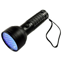 HQRP Professionnel 76 LED Ultra Violet Blacklight UV Lampe Torche Léger