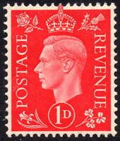 1937 GVI 1d Scarlet Definitive Dark Colours SG463 Unmounted Mint MNH